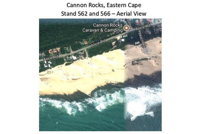 Cannon Rocks Stand 562 and 566 - Aerial View